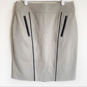 Ann Taylor Skirt Pencil Career Tan Black Size 6